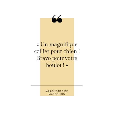Marguerite - Témoignage client - Jeanne Selo Artisan Sellier Lyon Saint Etienne Bourg en Bresse Genève